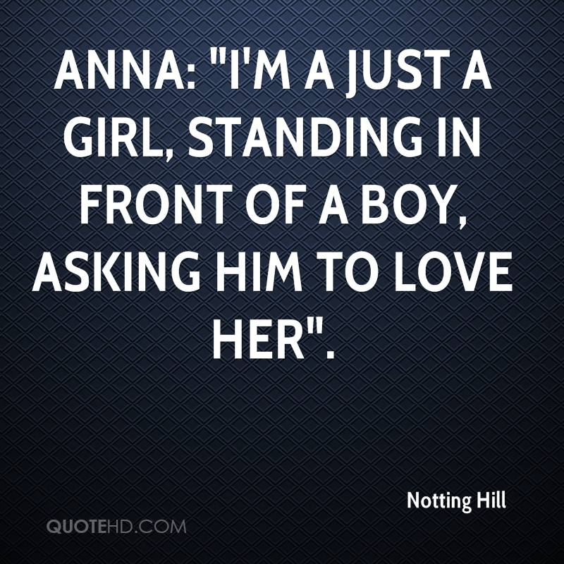 just a girl standing in front of a boy