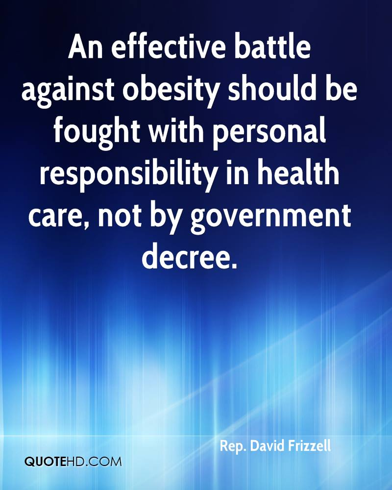 personal responsibility and obesity essay