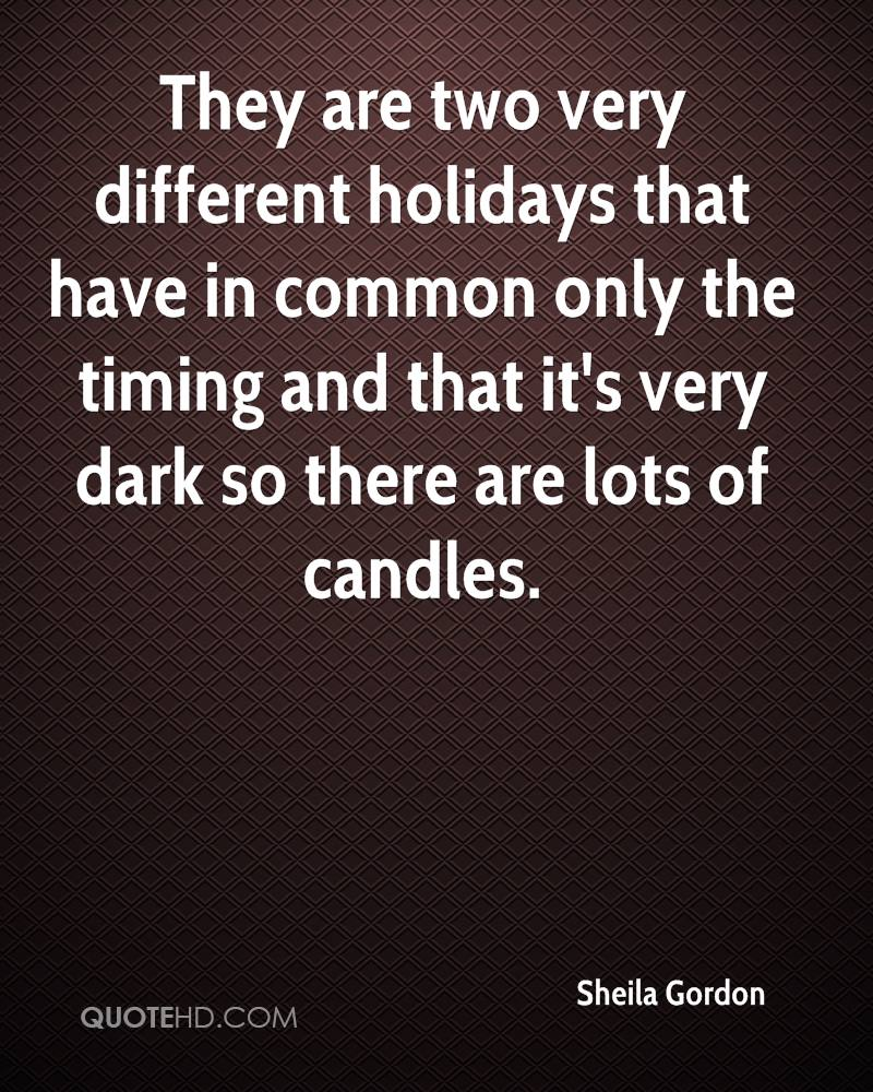 They are two very different holidays that have in common only the timing and that it's very dark so there are lots of candles.