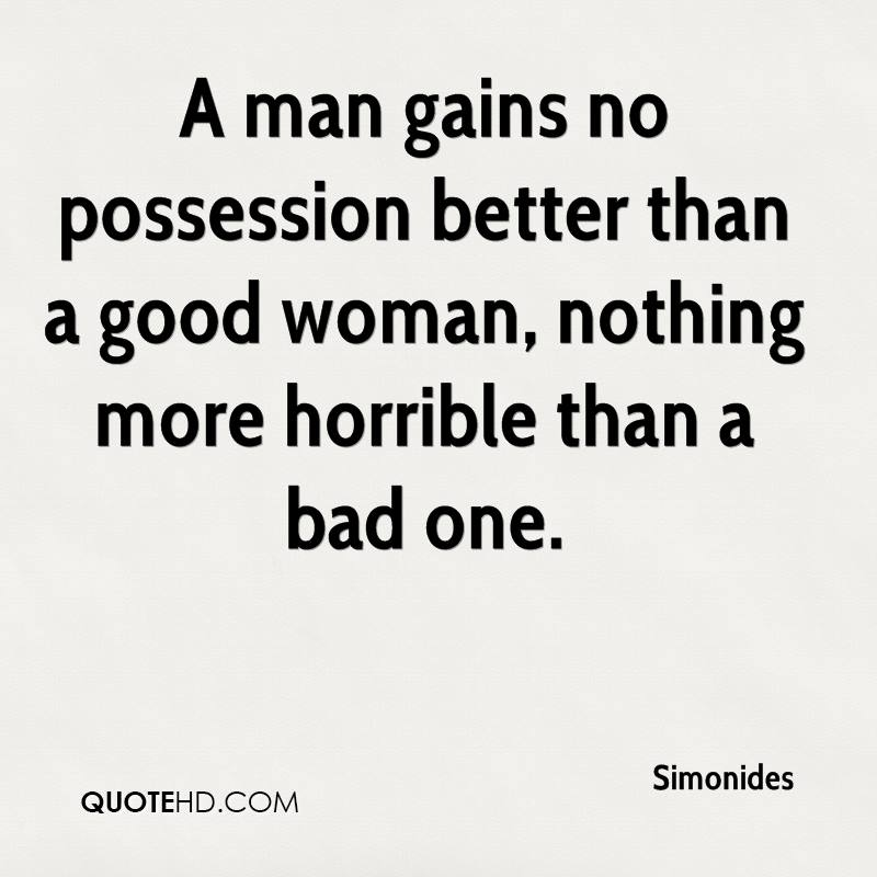 Bad Women Quotes: Simonides Quotes