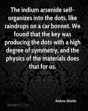 Andrew Shields - The indium arsenide self-organizes into the dots, like raindrops on a car bonnet. We found that the key was producing the dots with a high degree of symmetry, and the physics of the materials does that for us.
