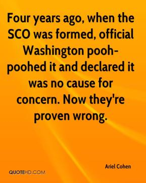 Ariel Cohen - Four years ago, when the SCO was formed, official Washington pooh-poohed it and declared it was no cause for concern. Now they're proven wrong.