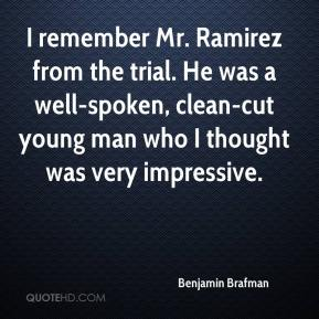 I remember Mr. Ramirez from the trial. He was a well-spoken, clean-cut young man who I thought was very impressive.