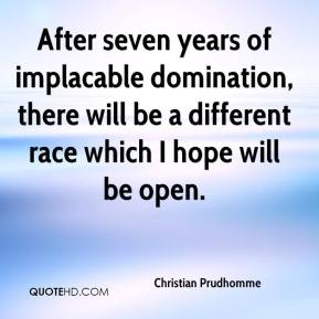 Christian Prudhomme - After seven years of implacable domination, there will be a different race which I hope will be open.