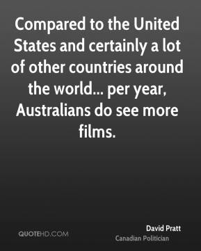 David Pratt - Compared to the United States and certainly a lot of other countries around the world... per year, Australians do see more films.
