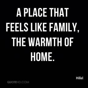 Hillel - a place that feels like family, the warmth of home.