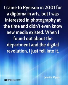 I came to Ryerson in 2001 for a diploma in arts, but I was interested in photography at the time and didn't even know new media existed. When I found out about the department and the digital revolution, I just fell into it.