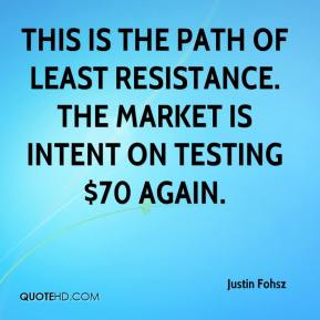Justin Fohsz  - This is the path of least resistance. The market is intent on testing $70 again.