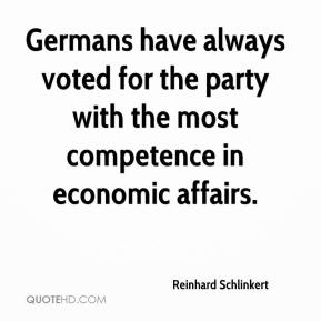 Reinhard Schlinkert  - Germans have always voted for the party with the most competence in economic affairs.
