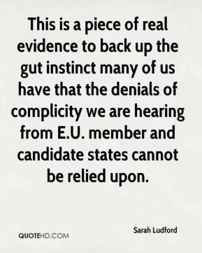 Sarah Ludford  - This is a piece of real evidence to back up the gut instinct many of us have that the denials of complicity we are hearing from E.U. member and candidate states cannot be relied upon.