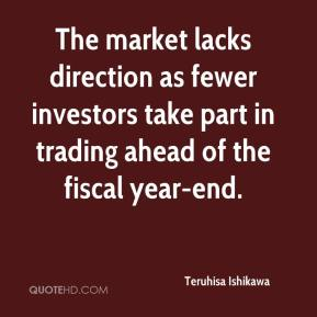 The market lacks direction as fewer investors take part in trading ahead of the fiscal year-end.