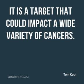 Tom Cech  - It is a target that could impact a wide variety of cancers.