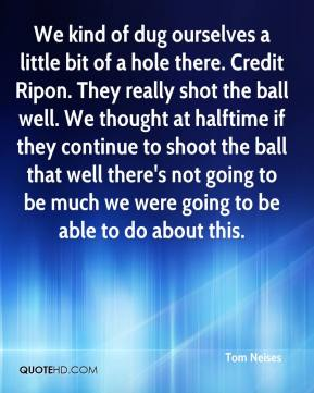 We kind of dug ourselves a little bit of a hole there. Credit Ripon. They really shot the ball well. We thought at halftime if they continue to shoot the ball that well there's not going to be much we were going to be able to do about this.