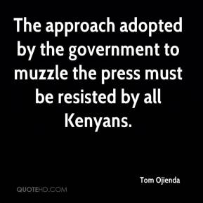 The approach adopted by the government to muzzle the press must be resisted by all Kenyans.