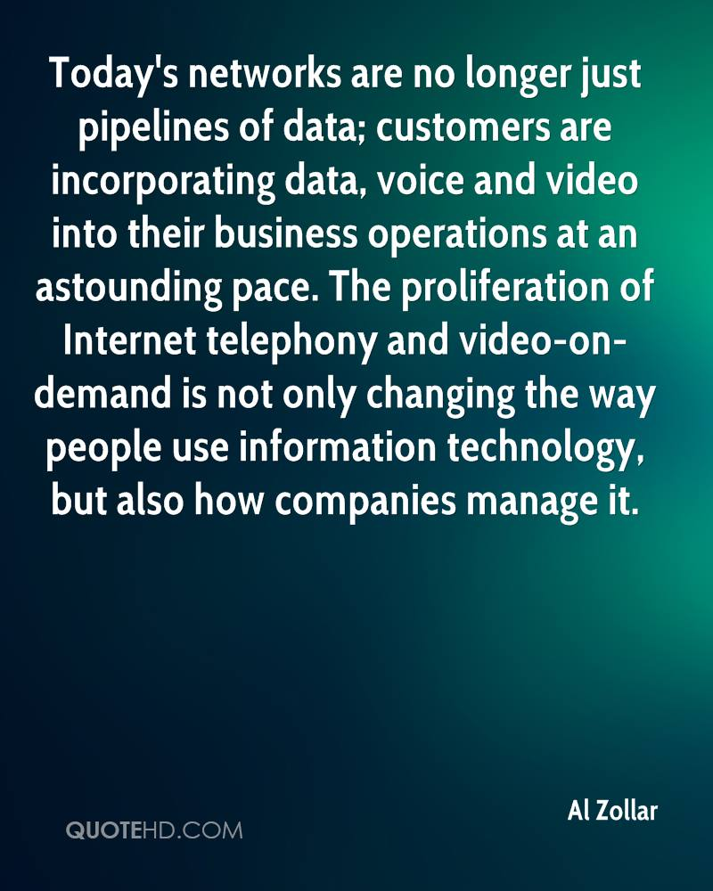 Today's networks are no longer just pipelines of data; customers are incorporating data, voice and video into their business operations at an astounding pace. The proliferation of Internet telephony and video-on-demand is not only changing the way people use information technology, but also how companies manage it.