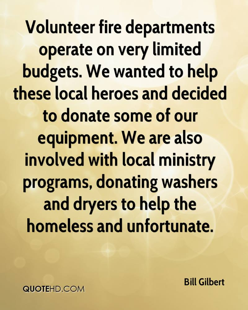 Volunteer fire departments operate on very limited budgets. We wanted to help these local heroes and decided to donate some of our equipment. We are also involved with local ministry programs, donating washers and dryers to help the homeless and unfortunate.