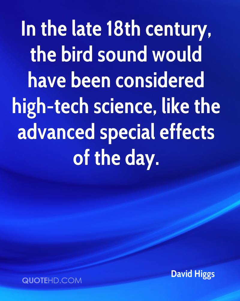 In the late 18th century, the bird sound would have been considered high-tech science, like the advanced special effects of the day.