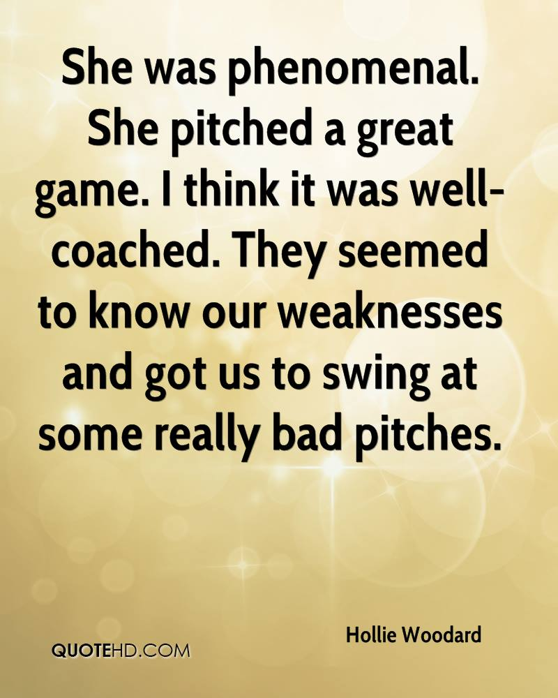She was phenomenal. She pitched a great game. I think it was well-coached. They seemed to know our weaknesses and got us to swing at some really bad pitches.