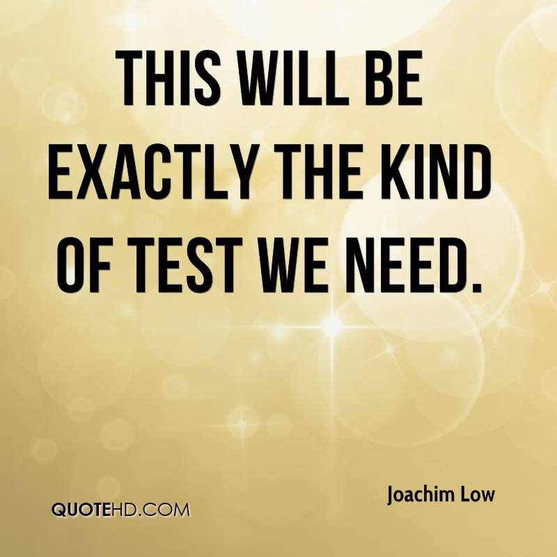 This will be exactly the kind of test we need.