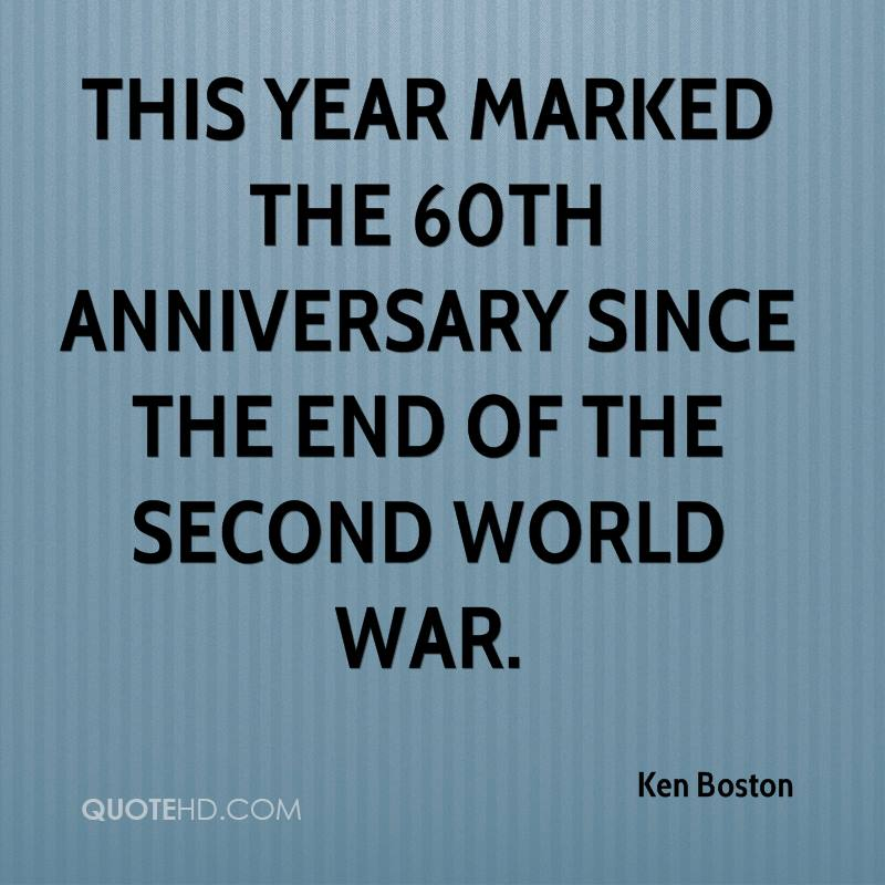 This year marked the 60th anniversary since the end of the Second World War.