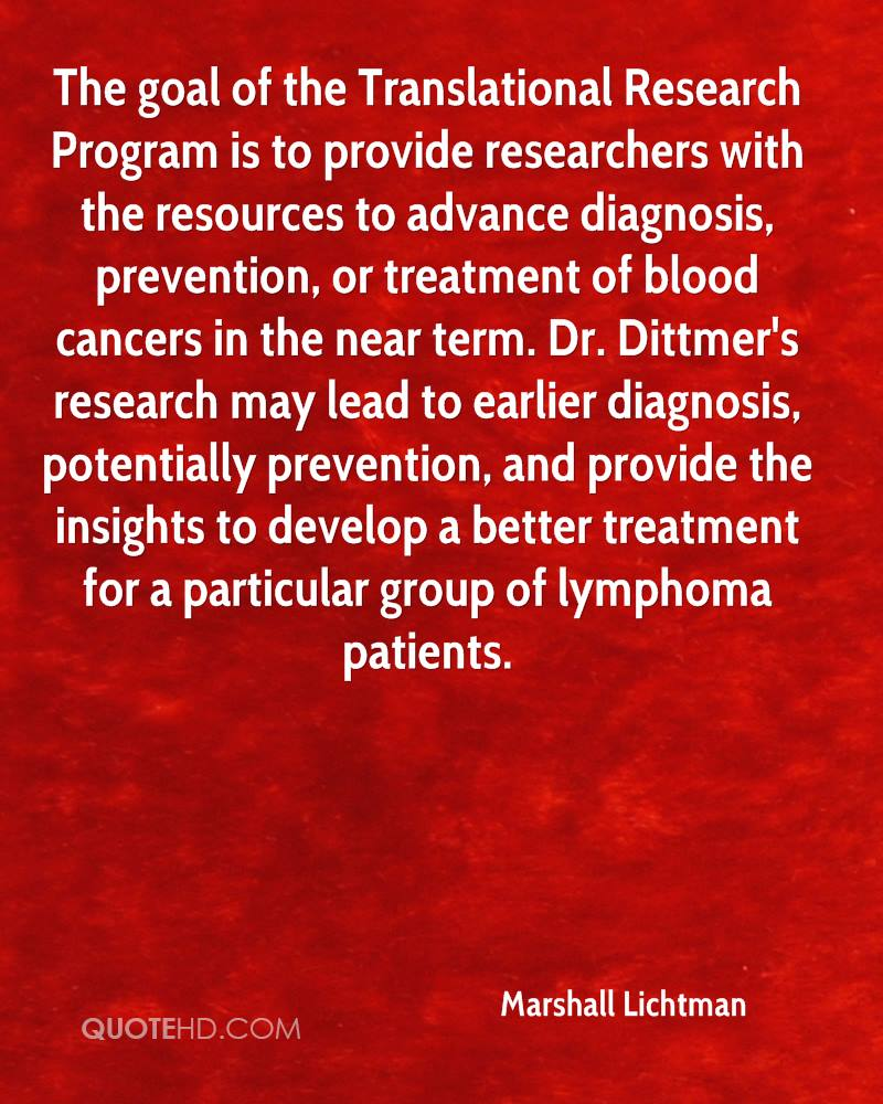 The goal of the Translational Research Program is to provide researchers with the resources to advance diagnosis, prevention, or treatment of blood cancers in the near term. Dr. Dittmer's research may lead to earlier diagnosis, potentially prevention, and provide the insights to develop a better treatment for a particular group of lymphoma patients.