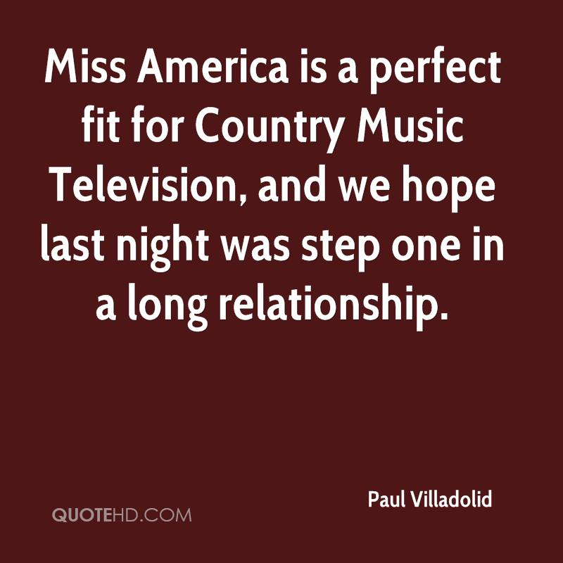 Miss America is a perfect fit for Country Music Television, and we hope last night was step one in a long relationship.