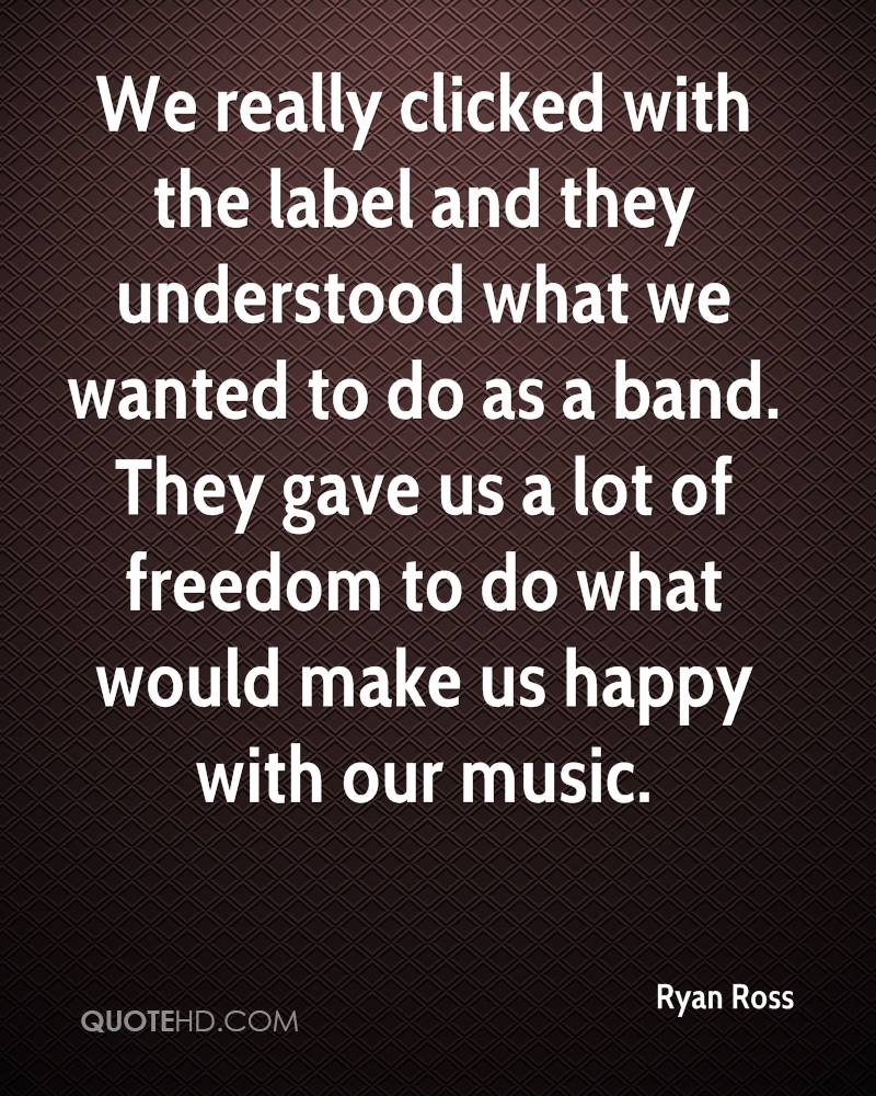 We really clicked with the label and they understood what we wanted to do as a band. They gave us a lot of freedom to do what would make us happy with our music.