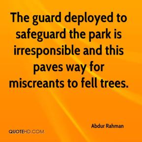 Abdur Rahman - The guard deployed to safeguard the park is irresponsible and this paves way for miscreants to fell trees.