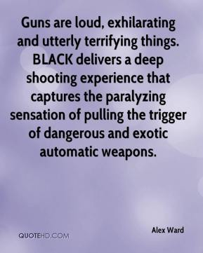 Alex Ward - Guns are loud, exhilarating and utterly terrifying things. BLACK delivers a deep shooting experience that captures the paralyzing sensation of pulling the trigger of dangerous and exotic automatic weapons.