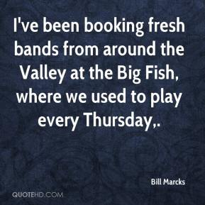 I've been booking fresh bands from around the Valley at the Big Fish, where we used to play every Thursday.