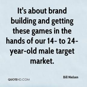 Bill Nielsen - It's about brand building and getting these games in the hands of our 14- to 24-year-old male target market.