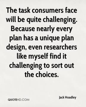 Jack Hoadley - The task consumers face will be quite challenging. Because nearly every plan has a unique plan design, even researchers like myself find it challenging to sort out the choices.