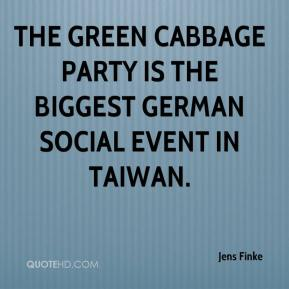 Jens Finke  - The Green Cabbage party is the biggest German social event in Taiwan.