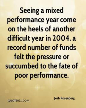 Josh Rosenberg  - Seeing a mixed performance year come on the heels of another difficult year in 2004, a record number of funds felt the pressure or succumbed to the fate of poor performance.