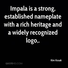 Impala is a strong, established nameplate with a rich heritage and a widely recognized logo.