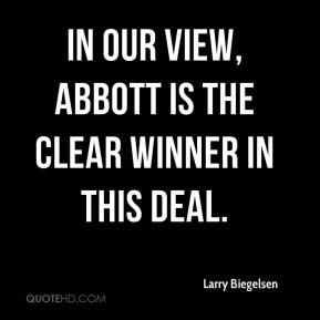 In our view, Abbott is the clear winner in this deal.