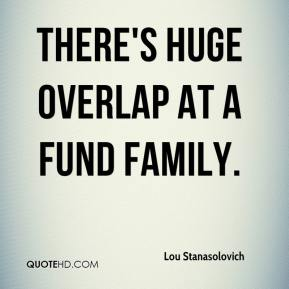Lou Stanasolovich  - There's huge overlap at a fund family.