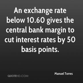 Manuel Torres  - An exchange rate below 10.60 gives the central bank margin to cut interest rates by 50 basis points.