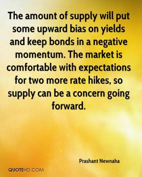 Prashant Newnaha  - The amount of supply will put some upward bias on yields and keep bonds in a negative momentum. The market is comfortable with expectations for two more rate hikes, so supply can be a concern going forward.