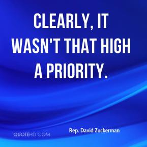 Clearly, it wasn't that high a priority.