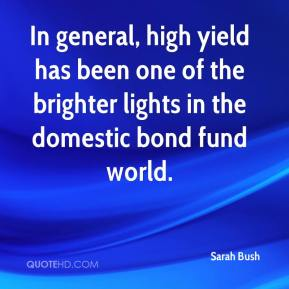 Sarah Bush  - In general, high yield has been one of the brighter lights in the domestic bond fund world.