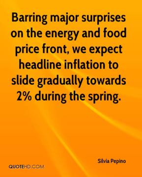 Silvia Pepino  - Barring major surprises on the energy and food price front, we expect headline inflation to slide gradually towards 2% during the spring.