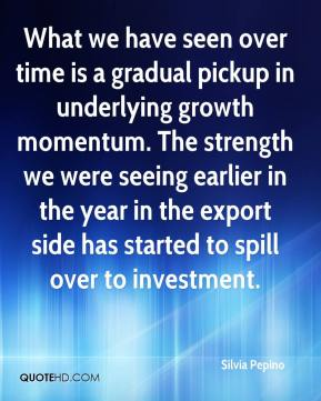 Silvia Pepino  - What we have seen over time is a gradual pickup in underlying growth momentum. The strength we were seeing earlier in the year in the export side has started to spill over to investment.