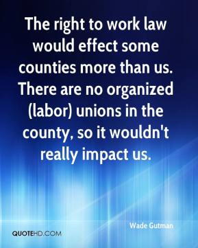 Impact of right to work in