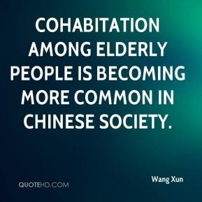 Wang Xun  - Cohabitation among elderly people is becoming more common in Chinese society.