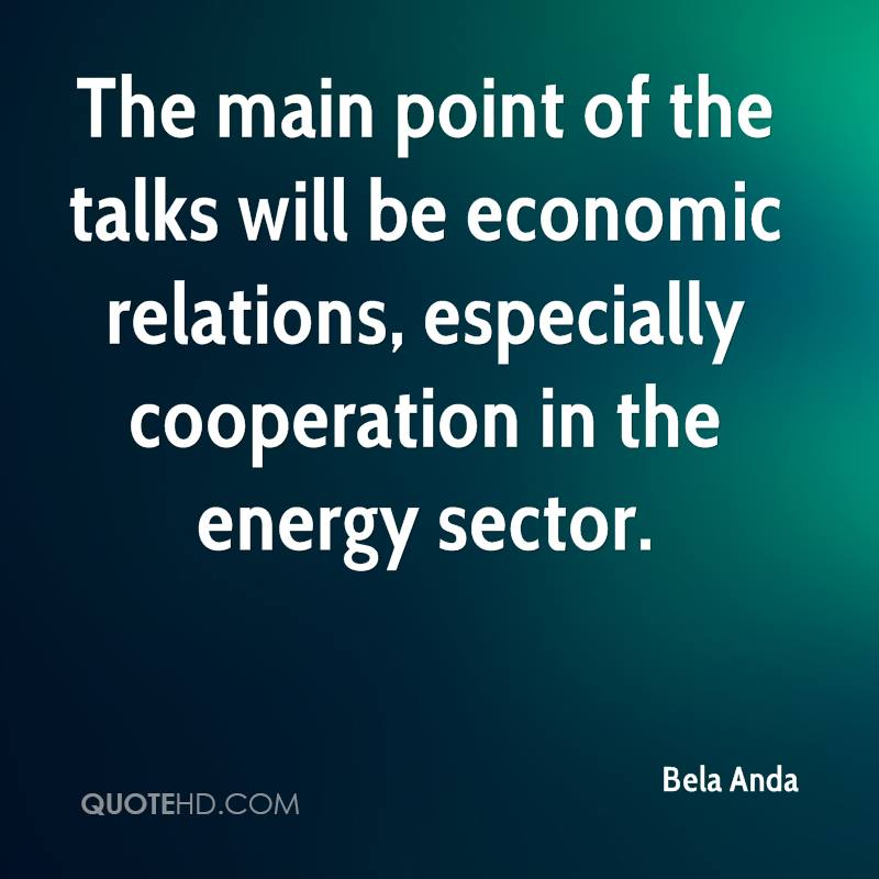 The main point of the talks will be economic relations, especially cooperation in the energy sector.