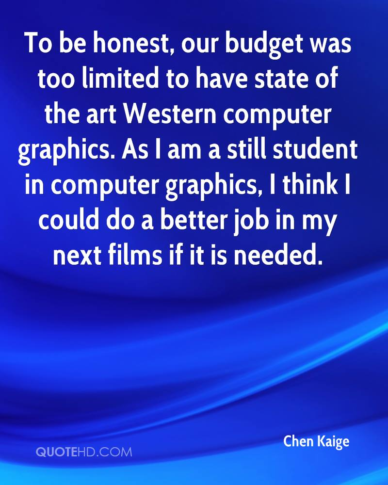 To be honest, our budget was too limited to have state of the art Western computer graphics. As I am a still student in computer graphics, I think I could do a better job in my next films if it is needed.