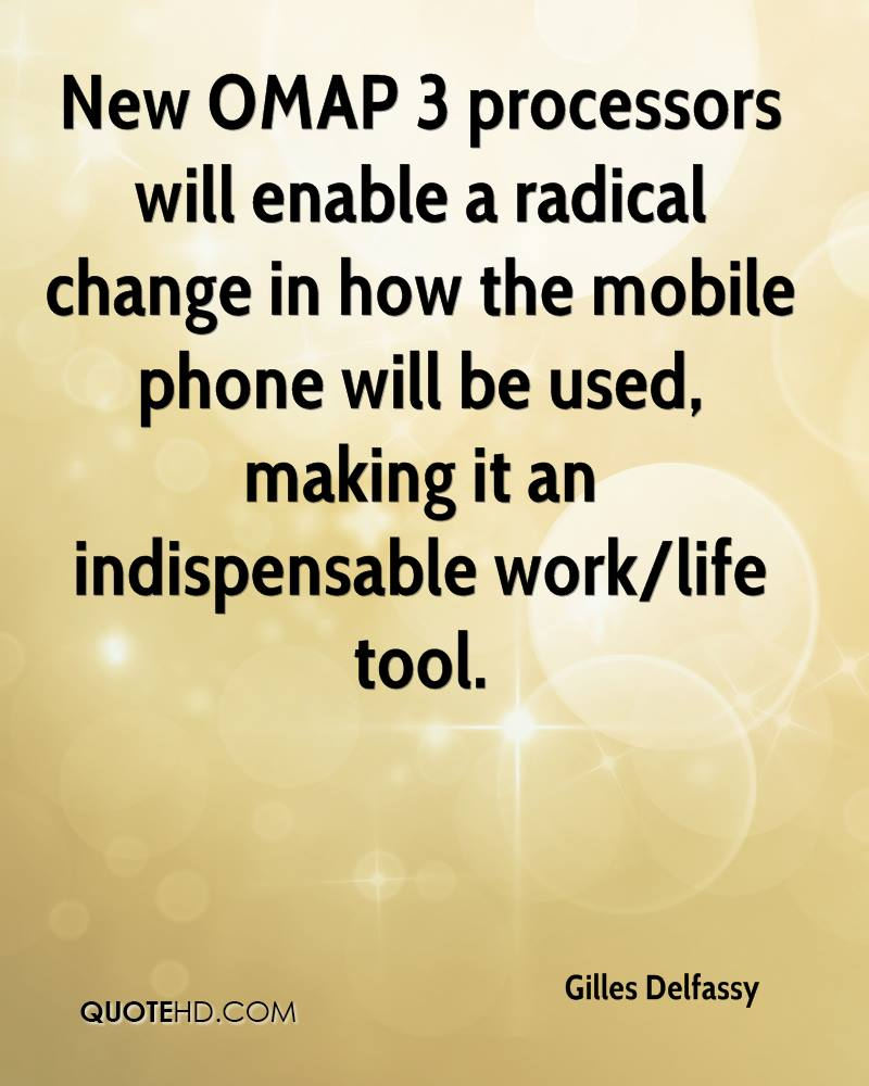 New OMAP 3 processors will enable a radical change in how the mobile phone will be used, making it an indispensable work/life tool.