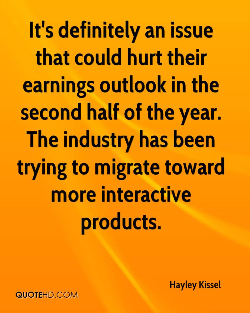 It's definitely an issue that could hurt their earnings outlook in the second half of the year. The industry has been trying to migrate toward more interactive products.