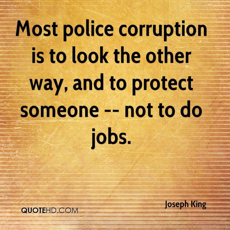 Quotes About Corruption: Joseph King Quotes